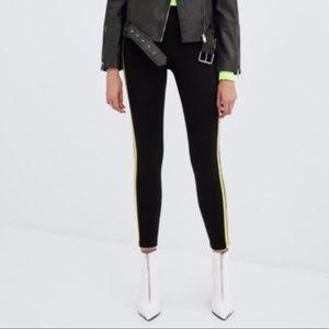 Zara yellow stripes leggings